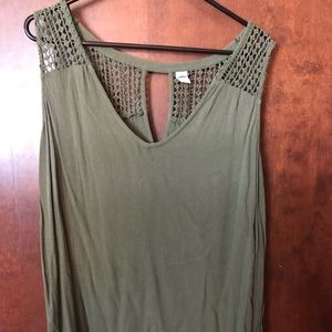 Olive Green Old Navy Tank Top